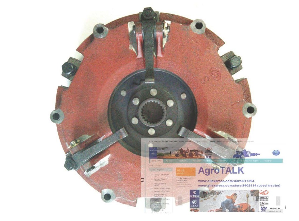Dongfeng tractor parts, DF404 the dual stage clutch assembly
