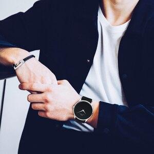 Image 2 - IBSO erkek saatler Top marka lüks 7MM ultra ince arama hakiki deri kayış izle erkekler moda basit Relogio masculino
