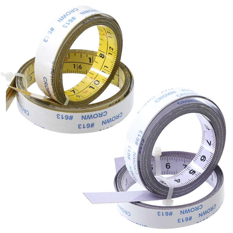 بوصة ومتري شريط ذاتي اللصق قياس الصلب ميتري المنشار مقياس ميتري المسار حاكم لجهاز التوجيه الجدول المنشار T-المسار أدوات النجارة