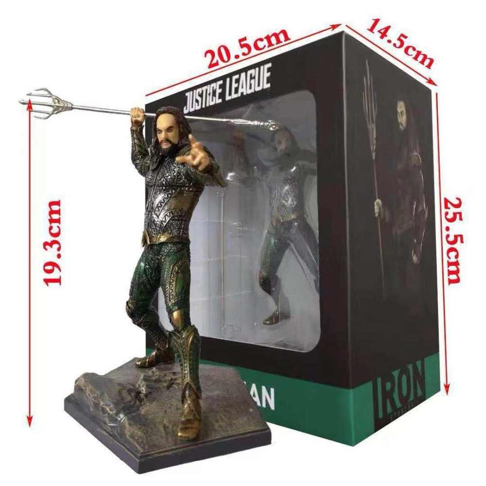 Anime DC Comics Liga Da Justiça Arthur Curry Aquaman Orin Estúdios de Ferro Figura de Ação PVC Coleção Modelo Brinquedos da Boneca Caçoa o Presente