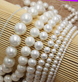 "Wholesale  White Shell Pearl 4,6,8,10,12,14,16,18,20mm Round Loose Beads 15""/38cm ,For DIY Jewelry Making !"