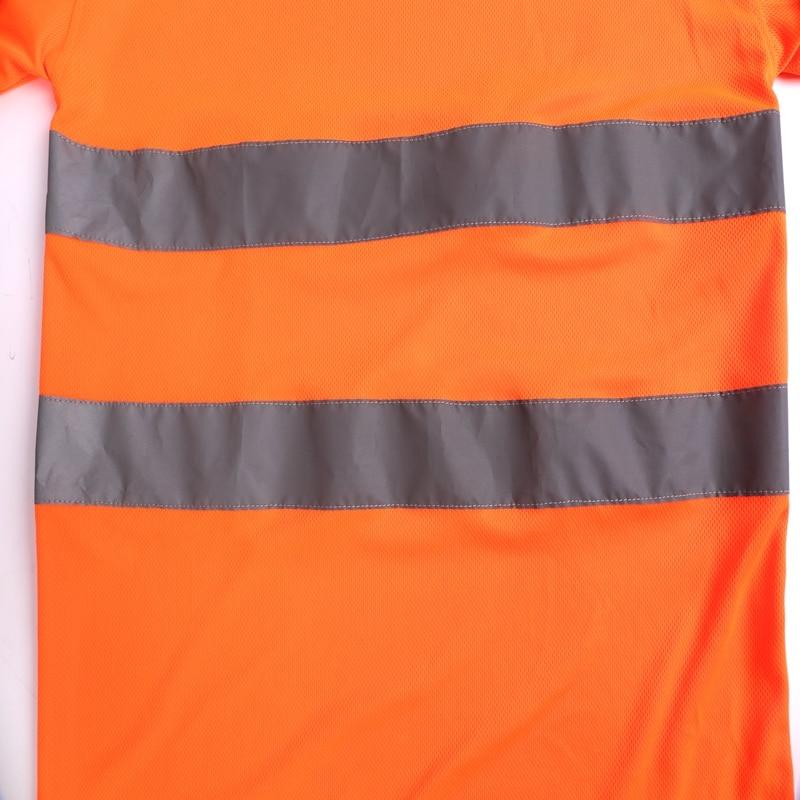 Reflective T-shirt Safety Bird-eyes fabric Vest Hi-vis Reflective Tape 2H