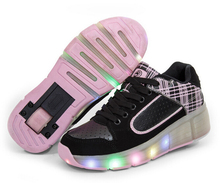 New Style 2016 Fashion Women Led Shoes With Wheels Girls Boys Roller Skate Shoes For Adult Led With Wheels Shoes Eur Size 34-41