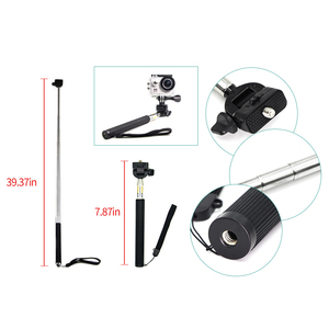 Image 3 - Juego de accesorios para cámara Gopro hero 7, accesorios para cámara Gopro hero 7, kit de 3 vías de palo selfie para Eken h9r H8R/xiaomi yi EVA