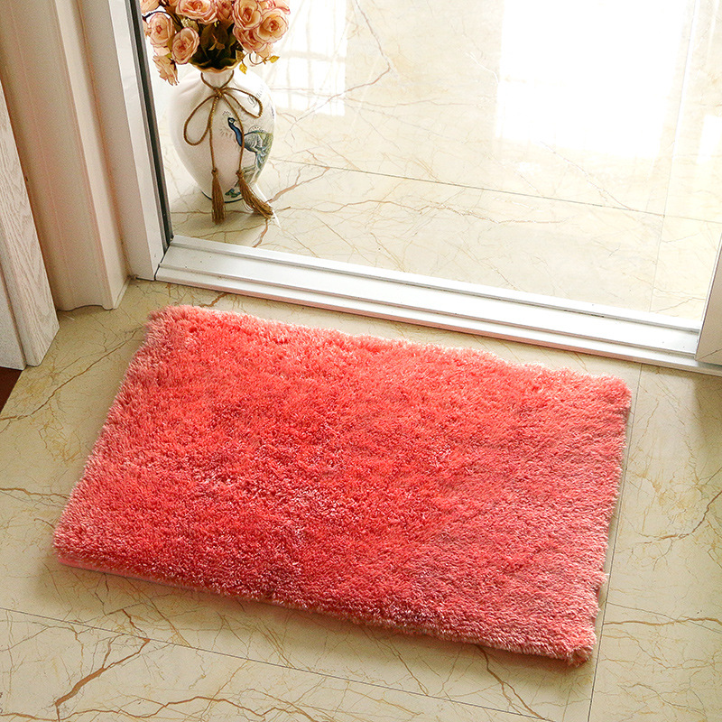 Washable Area Rugs Living Room: Solid Color Home Welcome Entrance Door Mats Washable