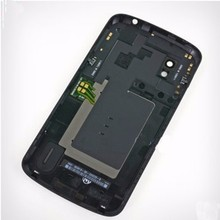 100% Original mobile phone housing for LG optimus E960 google Nexus 4 back case rear battery cover door+NFC cable