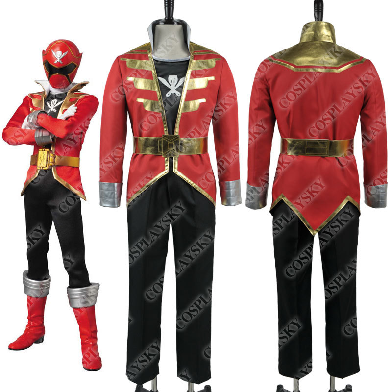 Kaizoku Sentai Gokaiger Gokai Cosplay Costumes Halloween Party Gifts Red Uniform Outfit Jacket Coat Pants Full Set Best Quality