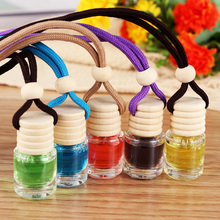 NewComing High Quality Five colors Car Air Freshener Ornament Vehicle Hanging Fruit Fragrance Bottle Perfume InteriorDecoration