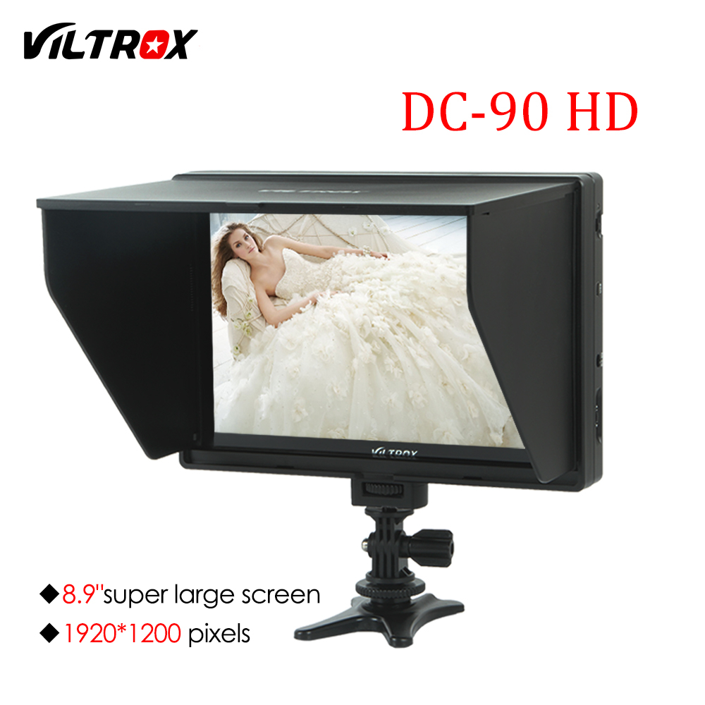 Viltrox DC-90HD 8.9'' Camera Video Monitor Display Clip-on IPS LCD HDMI AV Input 1920x1200 Pixels for Canon Nikon Sony DSLR BMPC