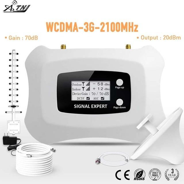 Полный умный ЖК-дисплей 3g Мобильный усилитель сигнала 2100 МГц Ретранслятор WCDMA 3g сотовый Усилитель сигнала Усилитель усилителя комплект