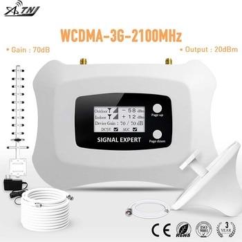 Amplificador amplificador de señal móvil 3G con pantalla LCD inteligente de 2100mhz kit de