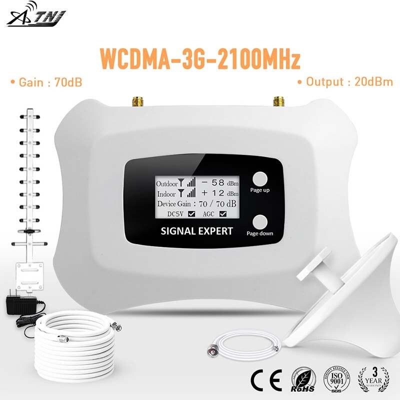 Amplificateur de Signal mobile 3G à affichage LCD Intelligent 2100mhz WCDMA répéteur 3g amplificateur de signal cellulaire amplificateur kit