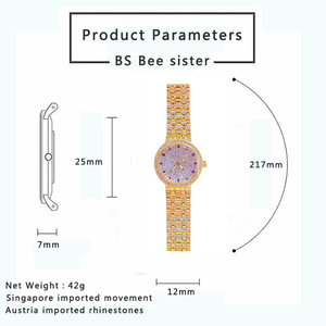 Image 5 - Kadın saatler ünlü lüks markalar elmas gümüş kadın kol saati küçük arama bayanlar bilek saatler Relogio Feminino 2020