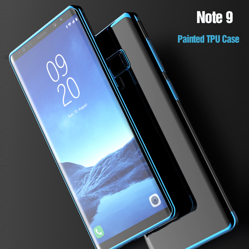 For Samsung Galaxy Note 9 Case, Vpower Painted Frame Crystal Clear Tpu Soft Phone Case For Samsung Note 9 10 Plus Case Cover
