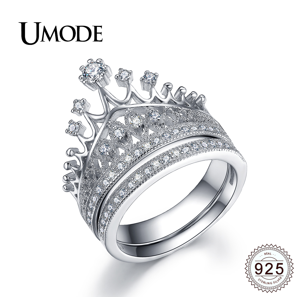 sterling silver wedding ring aliexpress buy umode luxury cz bridal sets for women 7706