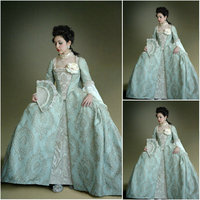 History!Customer made Lace Vintage Costumes Renaissance Dress Steampunk dress Gothic Cosplay Halloween Dresses C 1061