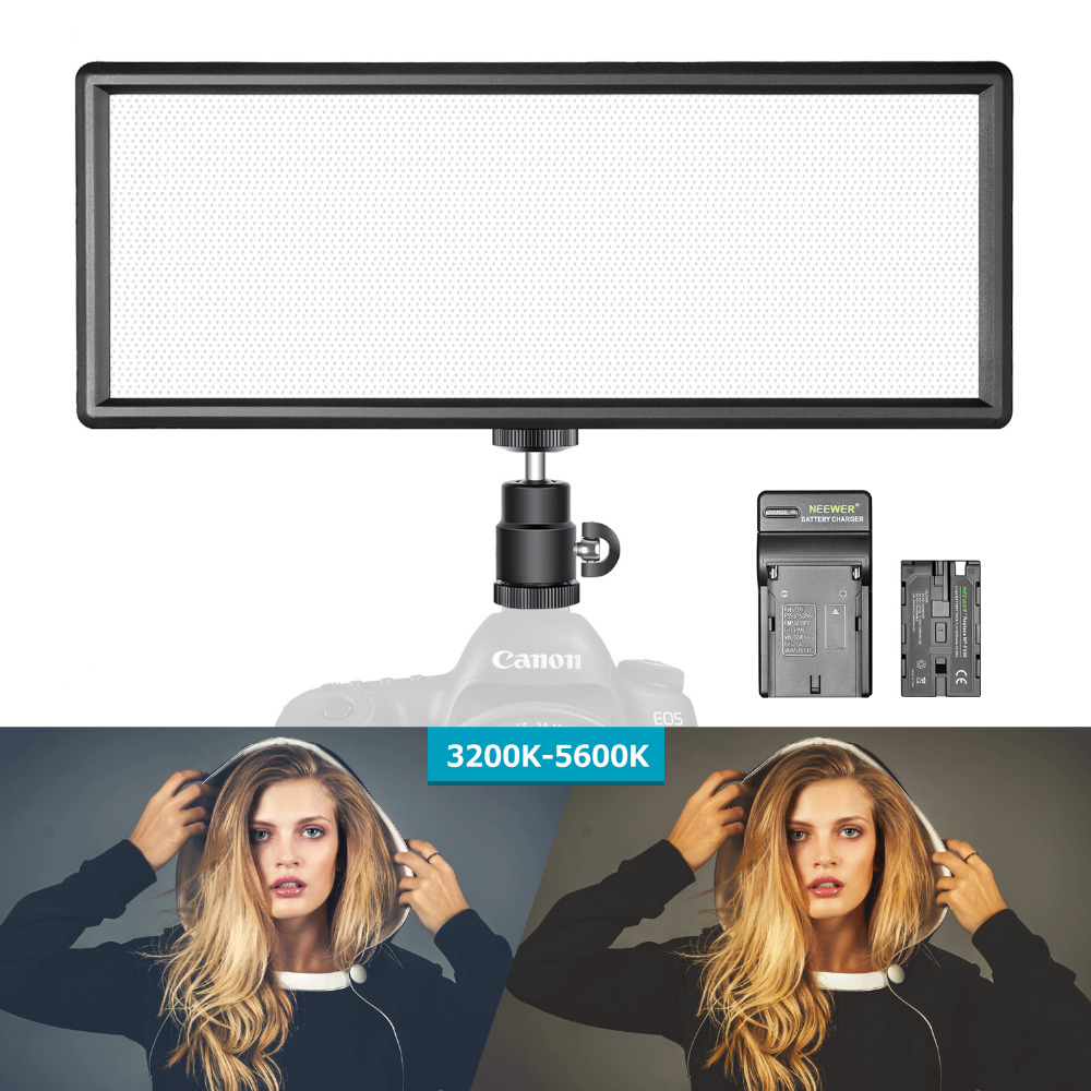 Neewer Super Mince Bi-couleur Dimmable led éclairage vidéo écran lcd Haute Puissance led Panneau pour Appareil Photo Photo Studio Vidéo Photographie
