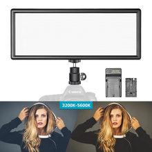 Neewer Super Dünne Bi-farbe Dimmbare LED Video Licht LCD Display High Power LED Panel für Kamera Foto Studio video Fotografie