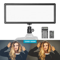 Neewer Super Slim Bi color Dimmable LED Video Light LCD Display High Power LED Panel for Camera Photo Studio Video Photography