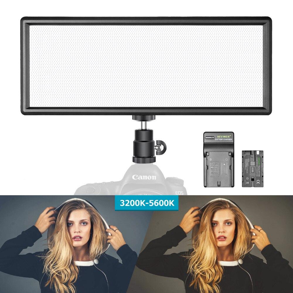 Neewer Super mince bi-couleur Dimmable LED lumière vidéo affichage LCD panneau de LED haute puissance pour caméra Photo Studio vidéo photographie