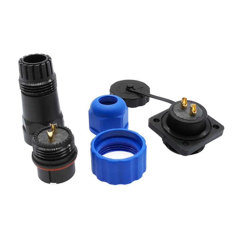 SP20 עמיד למים מחבר תקע ושקע עם מקורבות 4 חור IP68 1 פין 2 פין 3/4/5 /6/7/9/10/12/14Pin