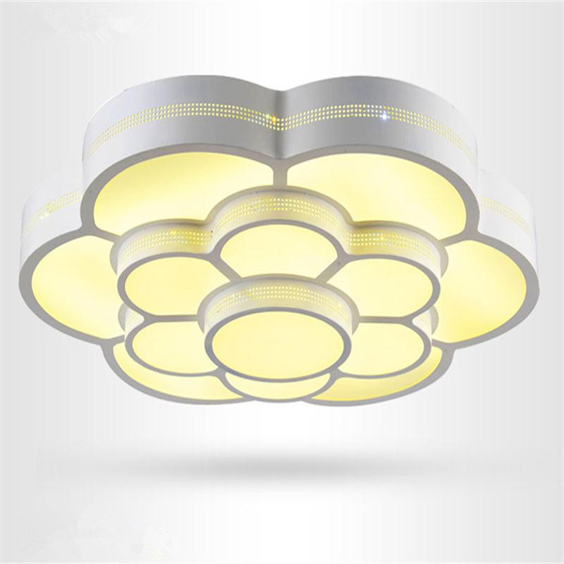 Plafonnier LED Moderne Living Room Lights Luminaria Teto Lustre Light Fixtures Surface Mounted LED Ceiling Lamp White Controller
