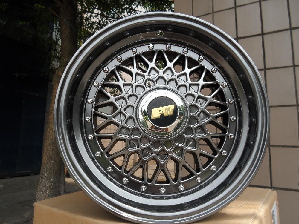 Four Pieces 15 inch et 35 Hyper Black wheel rims W881