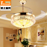 Crystal Ceiling Fan Lamp In The Living Room Dining Room Fan Lamp Simple Modern Led With