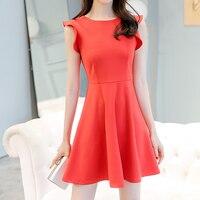 1a718b2731b0d 2018 New Summer Dress Korean OL Sleeveless Ruffles Dress
