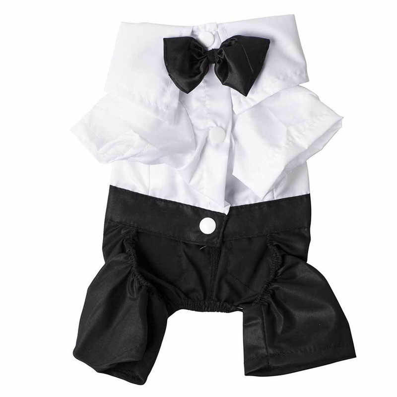 Dog Formal Dress Western Gentleman Style Men s Suit With Bow Tie Pet Dog  Clothes Puppy Apparel e037ad8dc6f2