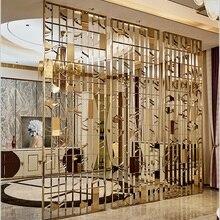 Декоративные внутренние металлические стеновые разделительные панели/архитектурный металлический экран s Gold Vanish/художественная нержавеющая стальная экранная стена