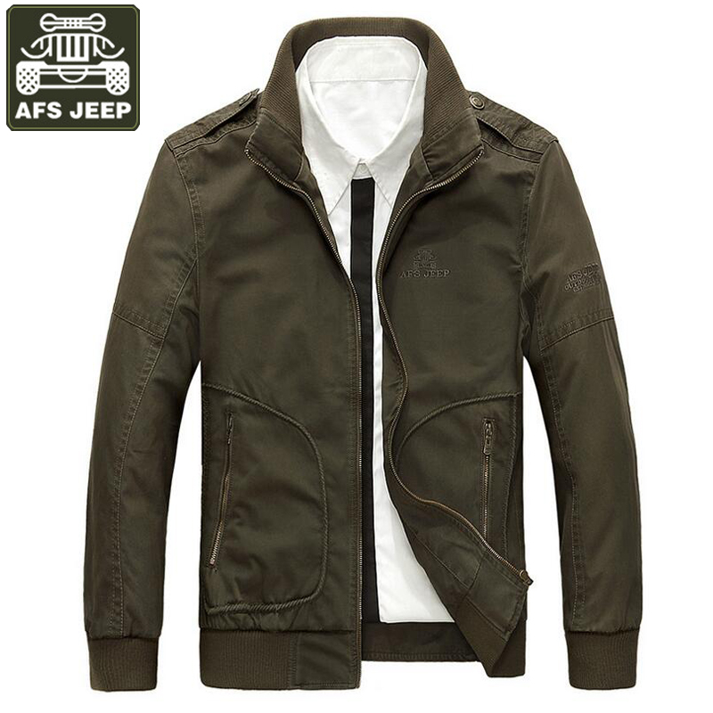 AFS JEEP Brand Jacket Men Pure Cotton Solid Army Military Jackets Coat For Men Windbreaker Fitness Jaqueta Masculino Size M-3XL все цены
