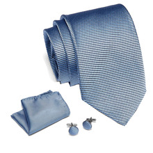 2019 New Arrival Tie For Men With Hanky Cufflinks 100% Silk Mens Wedding Square Set Party Business Freeshipping