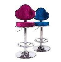 Fashion Bar Chair France Club Stool Brown Rose Silver Color Lifting Chair
