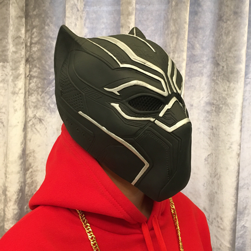 Movie Black Panther Masks Movie Captain America Civil War Cosplay Costume Full Face Latex Helmet Mask Halloween Mask image