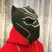 Filme preto pantera máscaras filme capitão américa guerra civil cosplay traje rosto cheio látex capacete máscara halloween