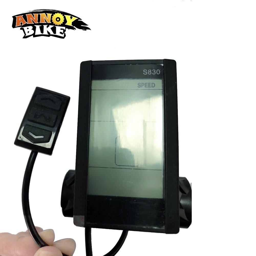 LCD Screen EBike Computer Speed Meter 36//48V S830 Waterproof Electric Bicycle