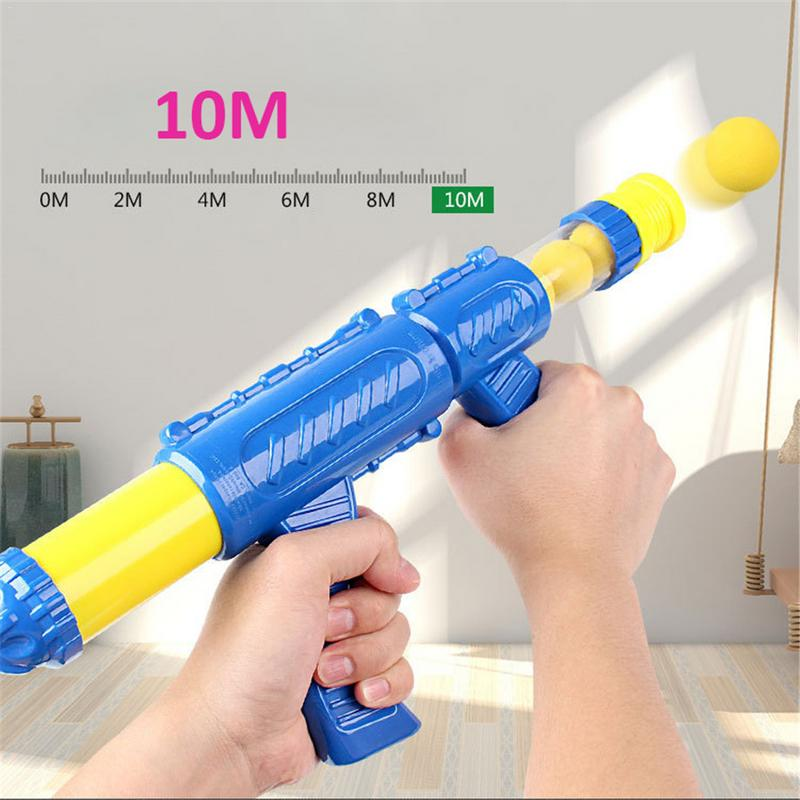 Air Powered Boy Kids Safety Soft Bullet Gun Child Toy Electronic Game Target Bullet Toy Indoor Hit Hungry Duck Game Kids Toy