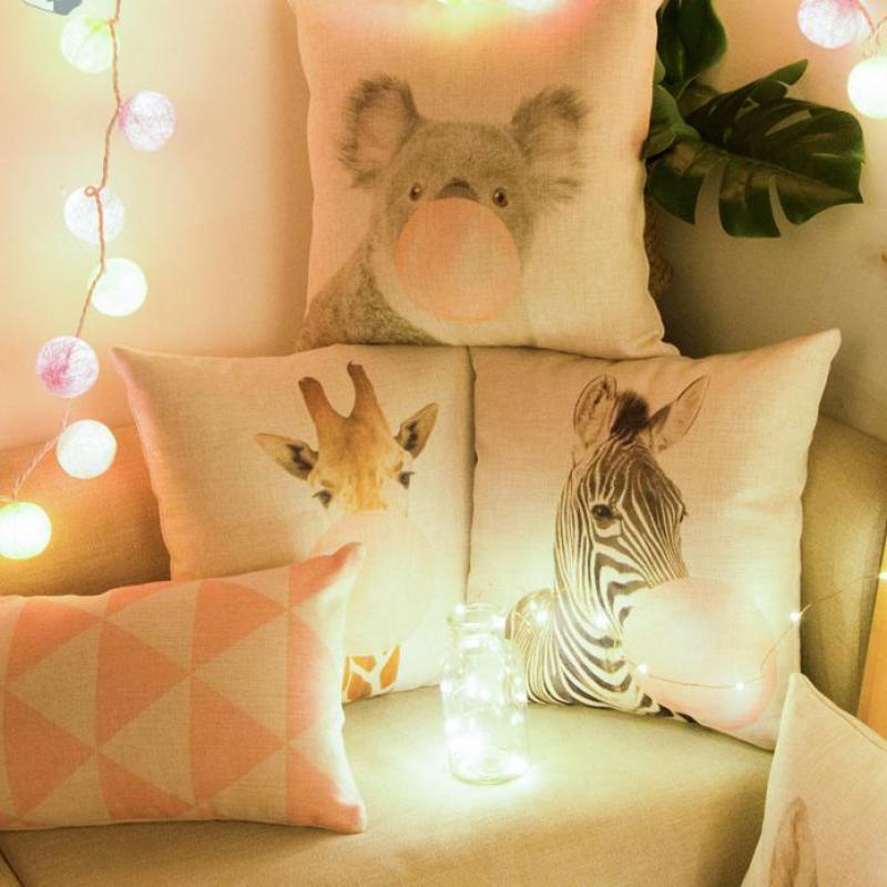 Car-Backrest-Pink-Cushion-Decoration-Giraffe-Koala-Zebra-Balloon-Stripe-Triangle-Tent-Perfume-Bottle-Girl-Pillow (2)