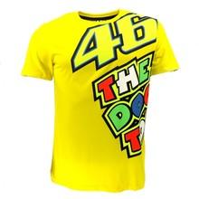 Валентино Росси VR46 желтый 46 Доктор футболка Гонки Двигатель Moto GP футболка