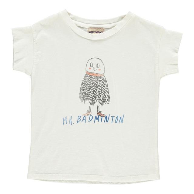 3e18c6ab3 Bobo Choses 2017 New Brand T Shirt Kids Graphic Tees Mr. Badminton Baby Girl  T-Shirt Off White High Quality 1-8 Years