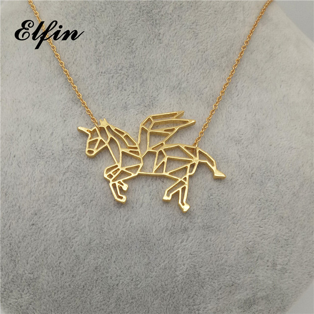 on charm dogeared gold is reads unicorn card necklace chain dipped life magical