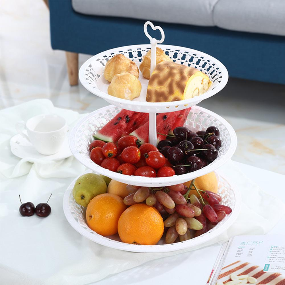 Two /Three Layers Fruit Plate Cake Stand Kitchen Accessories Party Festival Dessert Storage Rack Vegetable Container Organizer