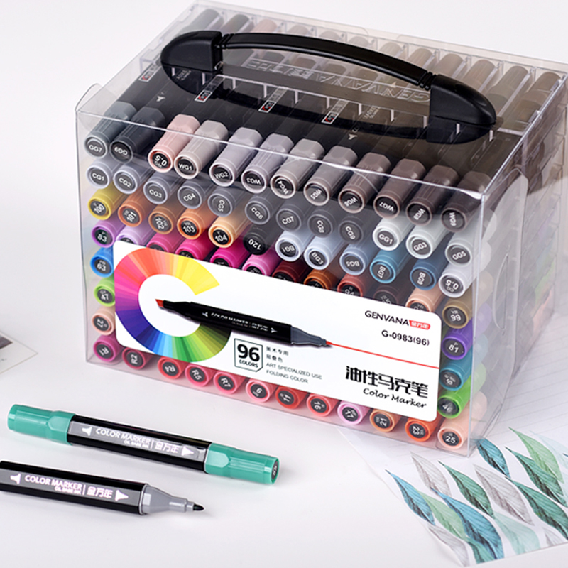 96/120 Color Set Double Twin Marker Permanent Oily Based Art Marker Cartoon Sketch Interior Design Art Markers96/120 Color Set Double Twin Marker Permanent Oily Based Art Marker Cartoon Sketch Interior Design Art Markers