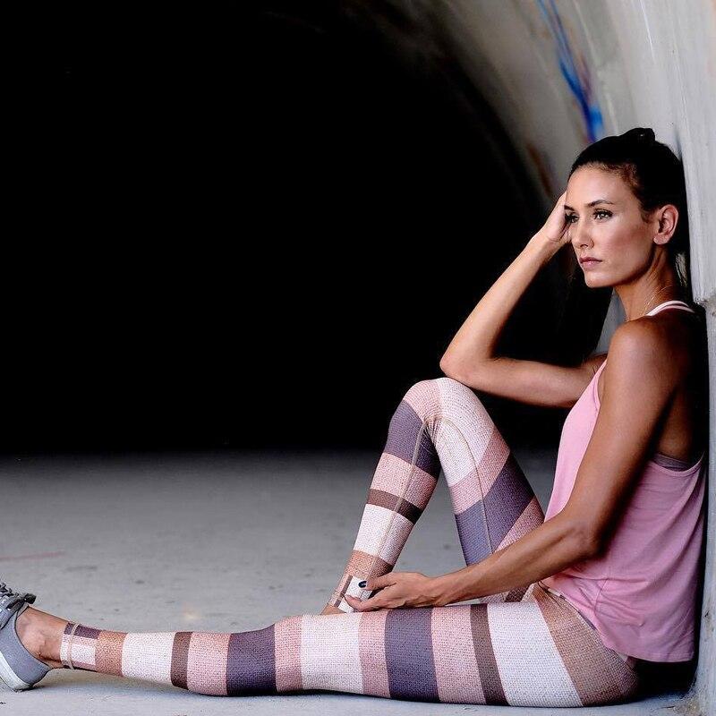 Pantaloni di Yoga di Fitness Donne Stampa Leggings Sportivi In Esecuzione Collant Donne Traspirante Quick Dry Abbigliamento Sportivo Malla Deportiva Mujer