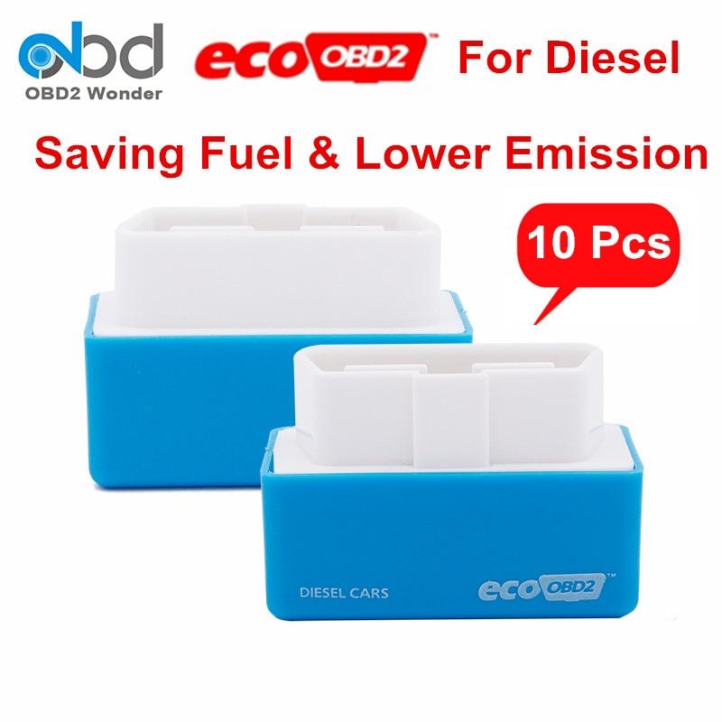 Цена за 10 шт./лот Ecoobd2 Diesel Plug Drive эко OBD2 Пособия по экономике ЭБУ чип Тюнинг Box для дизельных автомобилей эко obd разъем сохранить топлива низкий уровень выбросов