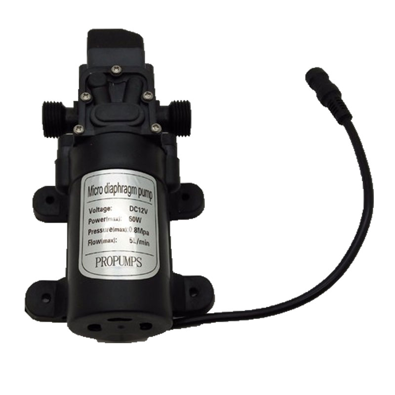 DC 12V 60W 5L/min Electric Water Pump Black Micro High Pressure Diaphragm Water Pump Sprayer Misting