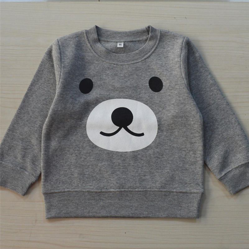 Simple printed O-neck hoddy autumn and winter baby boy's clothes wear free shipping