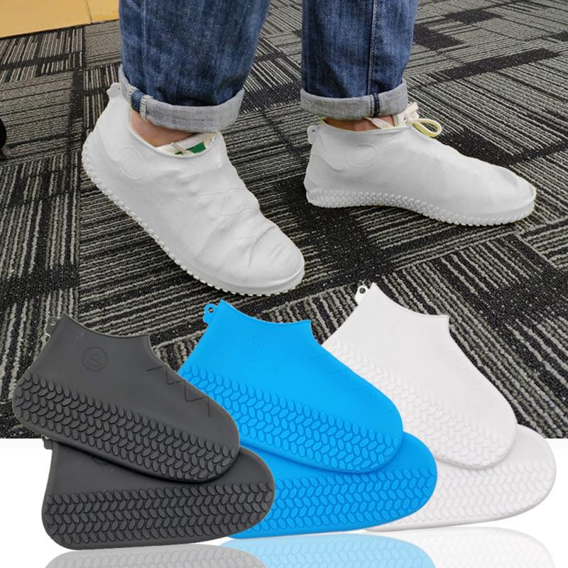 Fashion Shoes Cover Waterproof Reusable Rain Shoes Covers Slip-resistant Rain Boot Overshoes Men Women Shoes Accessories 2019