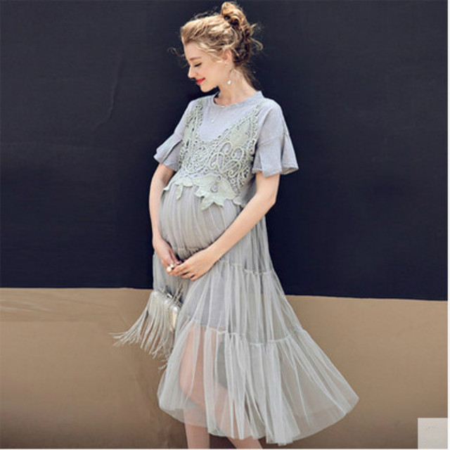b9dabad454527 Maternity Photography Props Maxi Maternity Pregnancy Clothes Gown Lace  Maternity Dress Shooting Photo Summer Pregnant Dress Plus